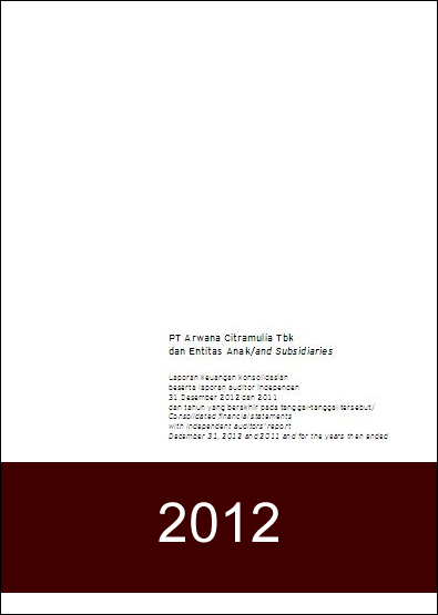 Financial Report 2012 - FY2012