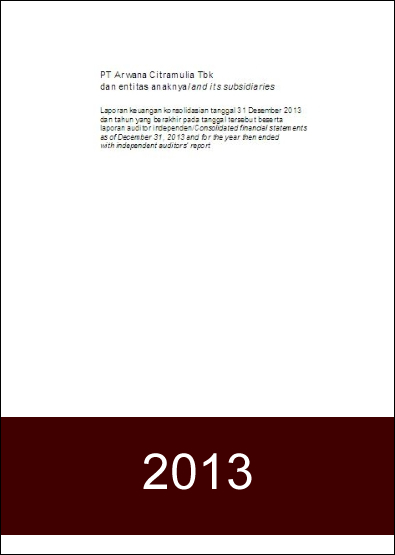 Financial Report 2013 - FY2013