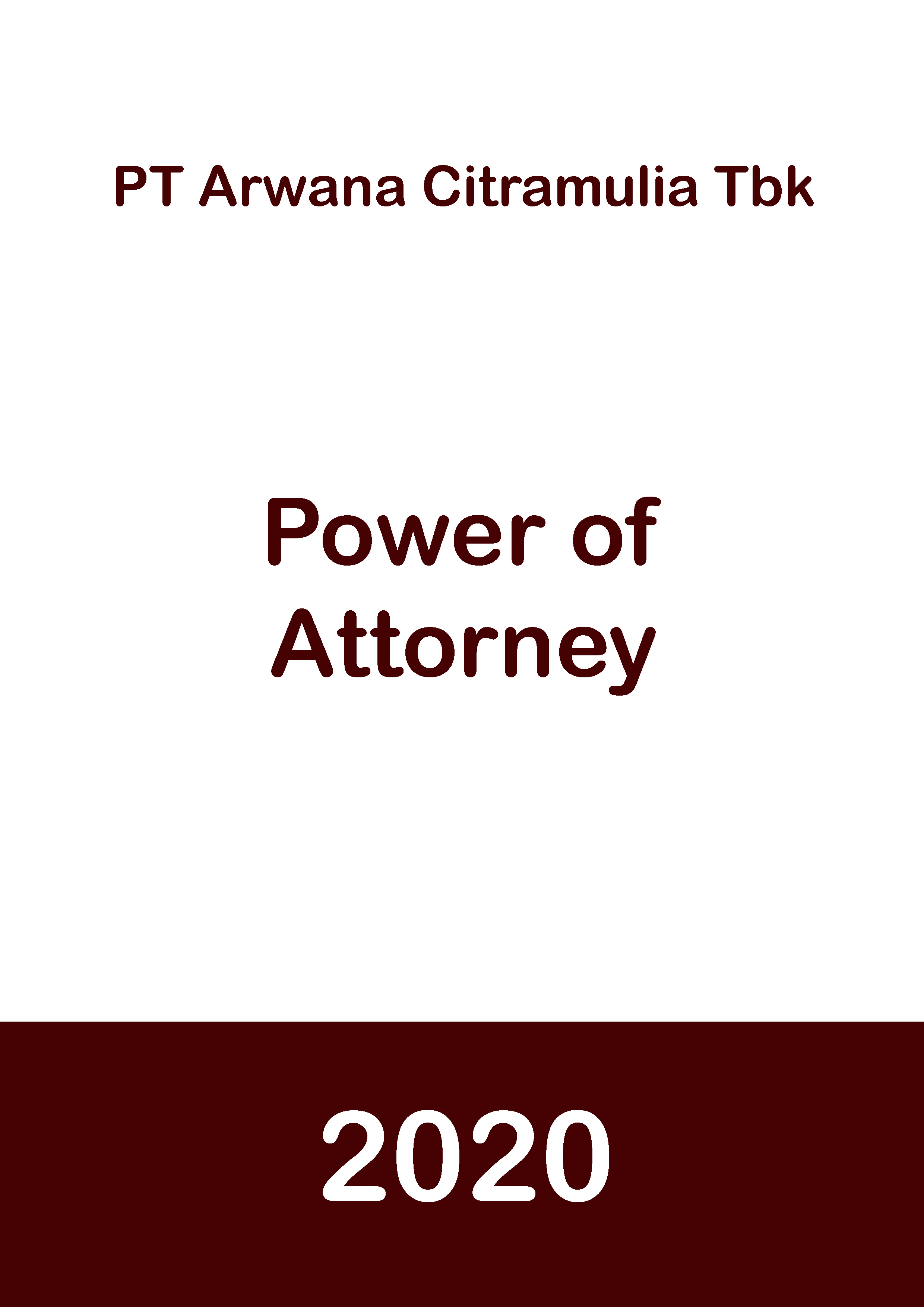 Power of Attorney 2020